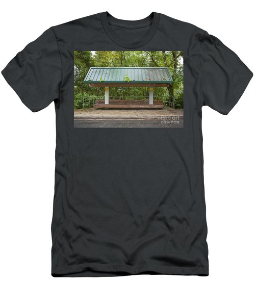 Bus Stop Bench In The Rainforest  Men's T-Shirt (Athletic Fit)