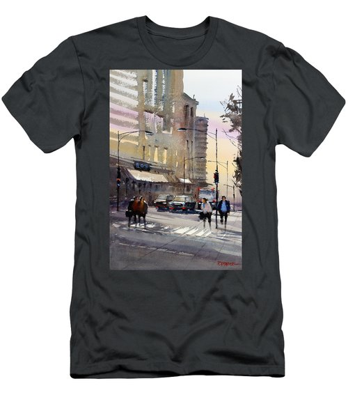 Bus Stop - Chicago Men's T-Shirt (Athletic Fit)