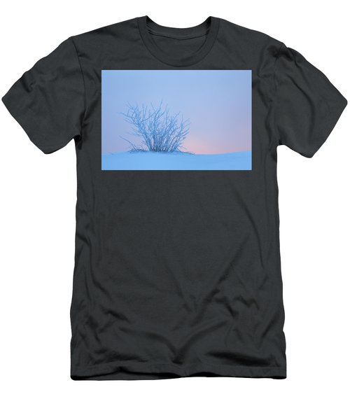 Bush In Snow In Morning Vosges France Men's T-Shirt (Athletic Fit)