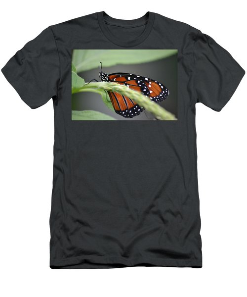 Men's T-Shirt (Athletic Fit) featuring the photograph Butterfly 1 by Michael Colgate