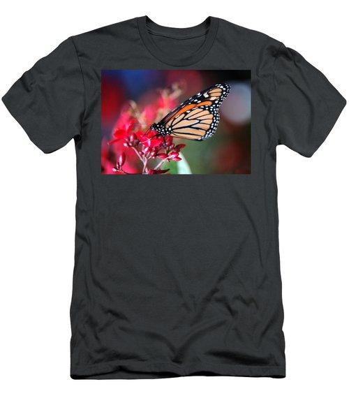 Men's T-Shirt (Slim Fit) featuring the photograph Butterfly 2 by Leticia Latocki
