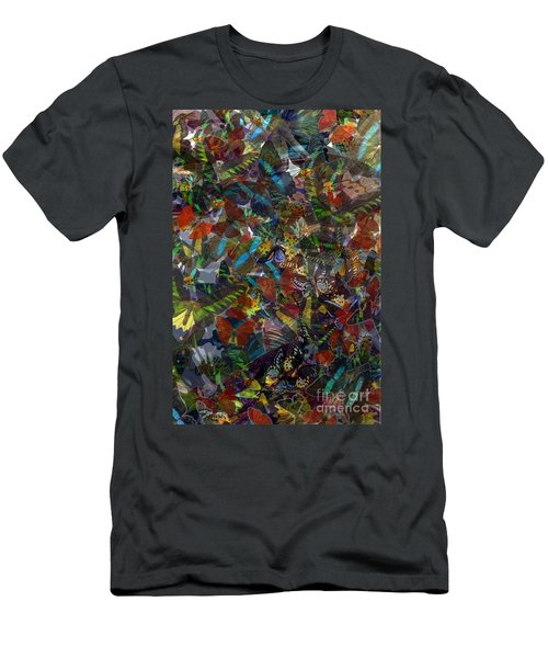 Men's T-Shirt (Slim Fit) featuring the photograph Butterfly Collage by Robert Meanor