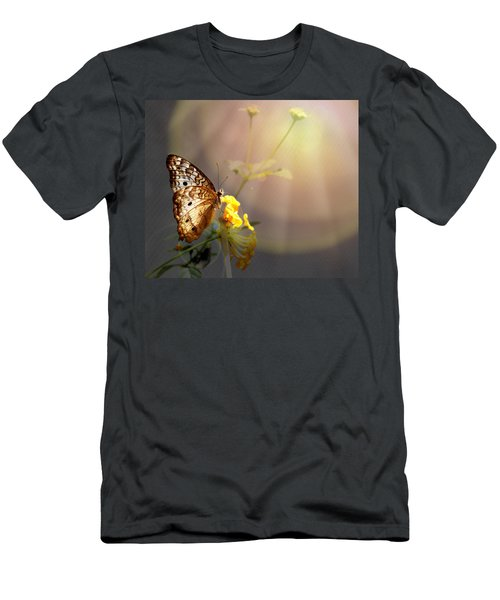 Butterfly Glow Men's T-Shirt (Slim Fit) by Judy Vincent