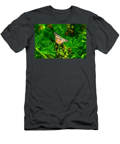 Men's T-Shirt (Athletic Fit) featuring the photograph Butterfly In Paradise by Gunter Nezhoda