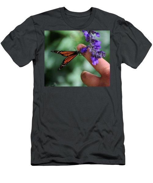 Men's T-Shirt (Slim Fit) featuring the photograph Butterfly by Leticia Latocki