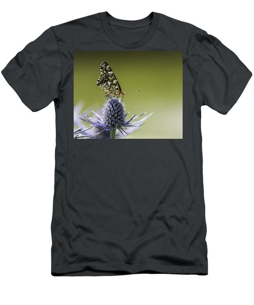 Butterfly On Thistle Men's T-Shirt (Athletic Fit)
