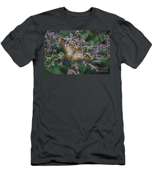 Men's T-Shirt (Slim Fit) featuring the photograph Butterfly Soft Landing by Thomas Woolworth