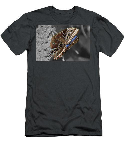 Butterfly Spot Color 1 Men's T-Shirt (Athletic Fit)