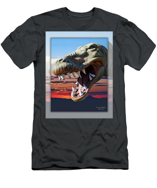 Cabazon Dinosaur Men's T-Shirt (Slim Fit) by Walter Herrit