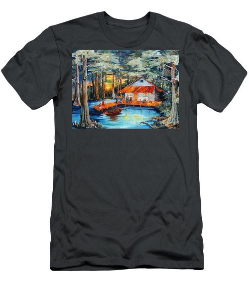 Cabin In The Swamp Men's T-Shirt (Athletic Fit)