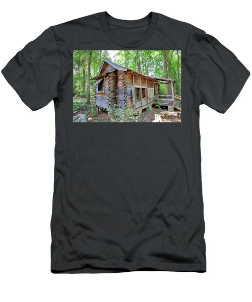 Men's T-Shirt (Slim Fit) featuring the photograph Cabin In The Woods by Gordon Elwell
