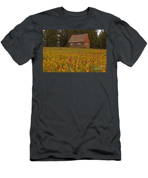 Cabin On Grand Mesa Men's T-Shirt (Athletic Fit)