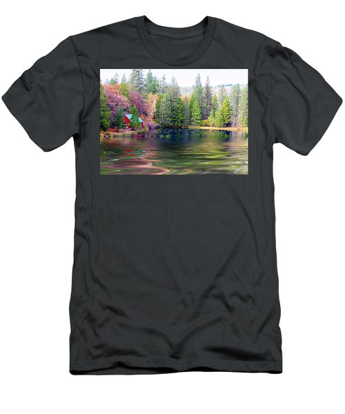 Cabin On The Lake Men's T-Shirt (Athletic Fit)