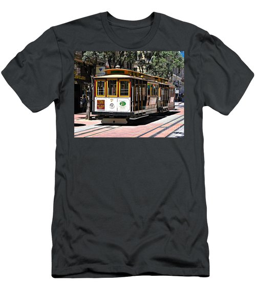 Cable Car - San Francisco Men's T-Shirt (Athletic Fit)