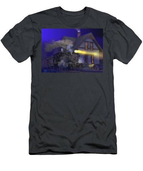 Caboose Hop At Dolores Colorado Men's T-Shirt (Slim Fit) by J Griff Griffin