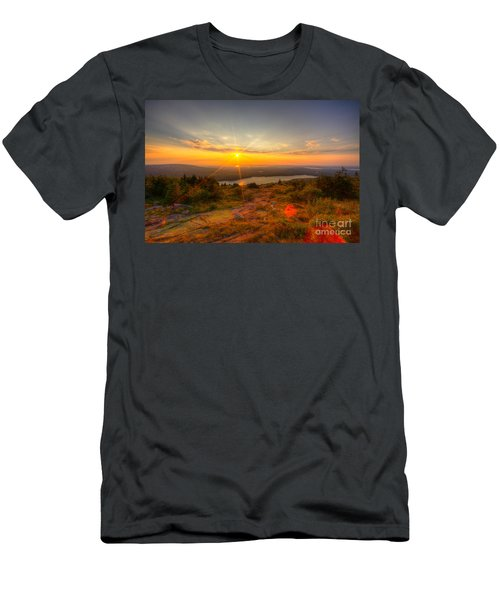 Cadillac Mountain Sunset Acadia National Park Bar Harbor Maine Men's T-Shirt (Athletic Fit)