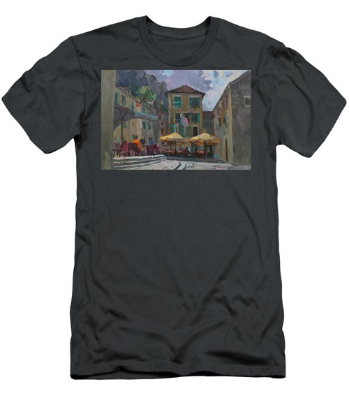 Cafe In Old City Men's T-Shirt (Athletic Fit)