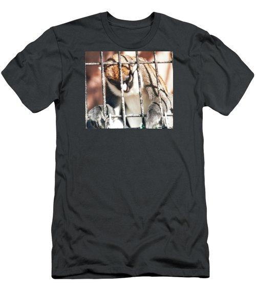 Caged But Strong Men's T-Shirt (Slim Fit) by Belinda Lee