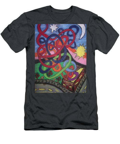 Men's T-Shirt (Slim Fit) featuring the drawing California by Jonathon Hansen