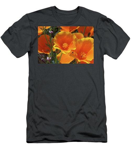 California Poppies Men's T-Shirt (Athletic Fit)
