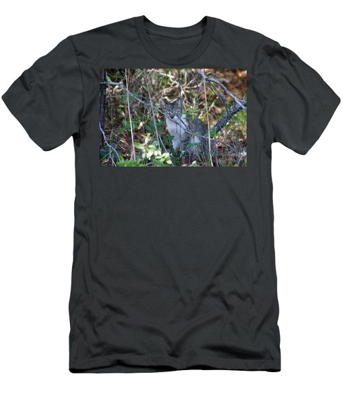 Men's T-Shirt (Slim Fit) featuring the photograph Camouflage Cat by Greg Graham