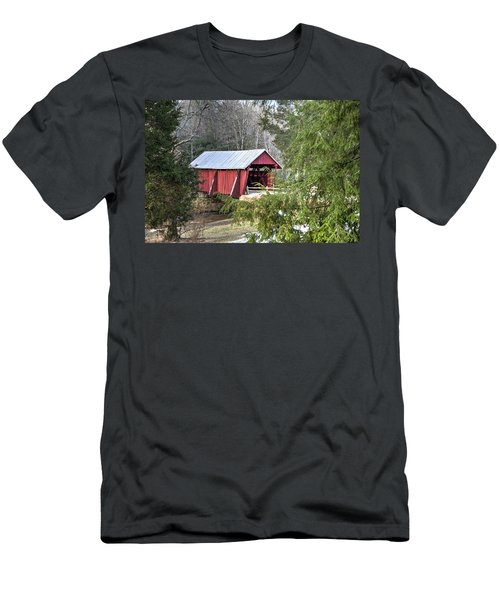 Campbell's Covered Bridge-1 Men's T-Shirt (Athletic Fit)