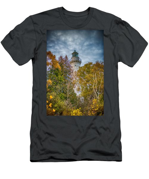 Cana Island Lighthouse II By Paul Freidlund Men's T-Shirt (Athletic Fit)