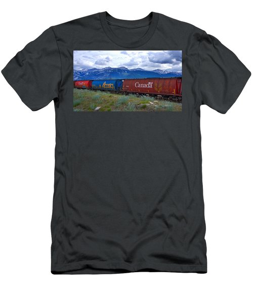 Canadian Freight Train In Jasper #2 Men's T-Shirt (Athletic Fit)