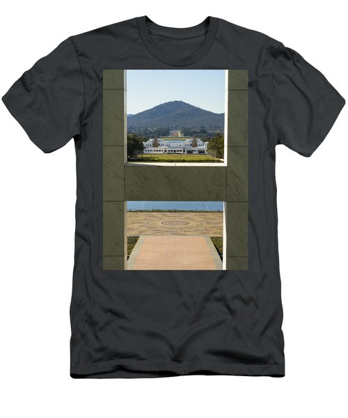 Canberra - Parliament House View Men's T-Shirt (Athletic Fit)