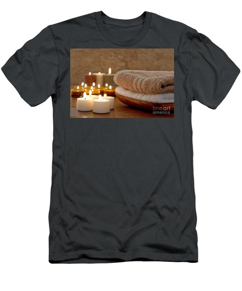 Candles And Towels In A Spa Men's T-Shirt (Athletic Fit)