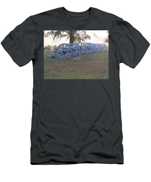Cannon's In Fog Men's T-Shirt (Slim Fit) by Michael Porchik