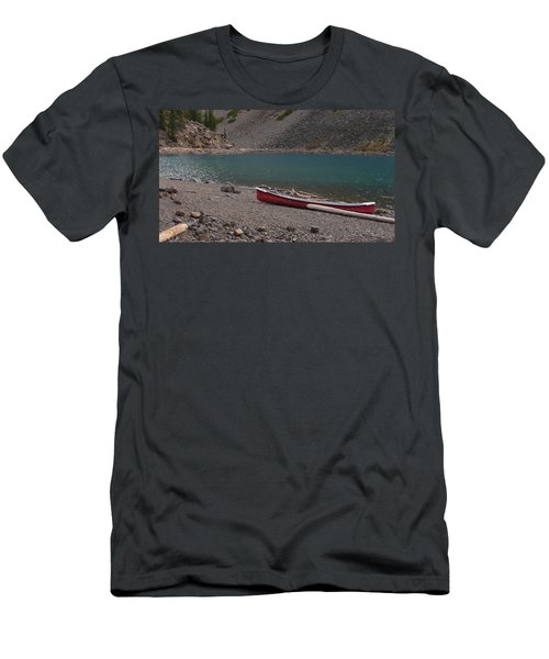 Canoe At Moraine Lake Men's T-Shirt (Athletic Fit)