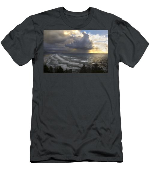 Sunset At Cape Lookout Oregon Coast Men's T-Shirt (Athletic Fit)