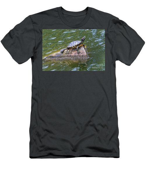 Captain Turtle Men's T-Shirt (Athletic Fit)