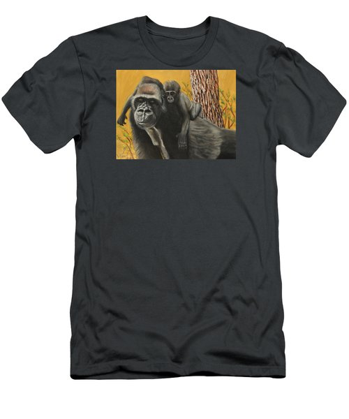 Men's T-Shirt (Slim Fit) featuring the painting Captured Bernigie by Jeanne Fischer