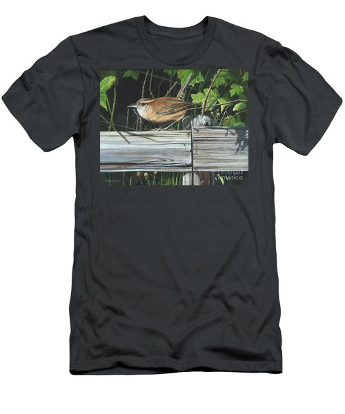 Carolina Wren Men's T-Shirt (Slim Fit) by Mike Brown