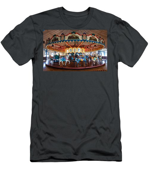 Men's T-Shirt (Slim Fit) featuring the photograph Carousel Ride by Jerry Cowart