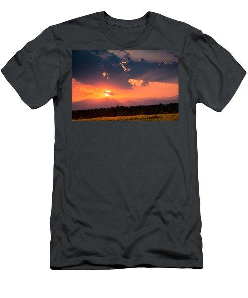 Men's T-Shirt (Slim Fit) featuring the photograph Carpathian Sunset by Mihai Andritoiu