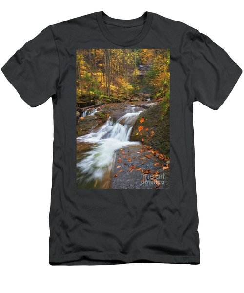 Cascade In The Glen Men's T-Shirt (Athletic Fit)