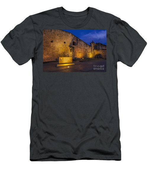 Men's T-Shirt (Athletic Fit) featuring the photograph Castillo San Cristobal In Old San Juan Puerto Rico by Bryan Mullennix