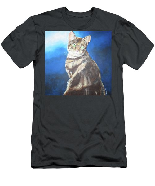 Cat Profile Men's T-Shirt (Athletic Fit)
