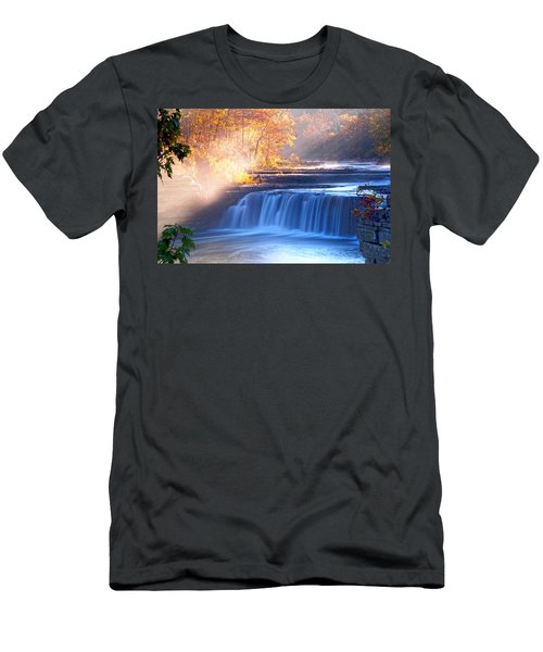 Cataract Falls Indiana Men's T-Shirt (Athletic Fit)