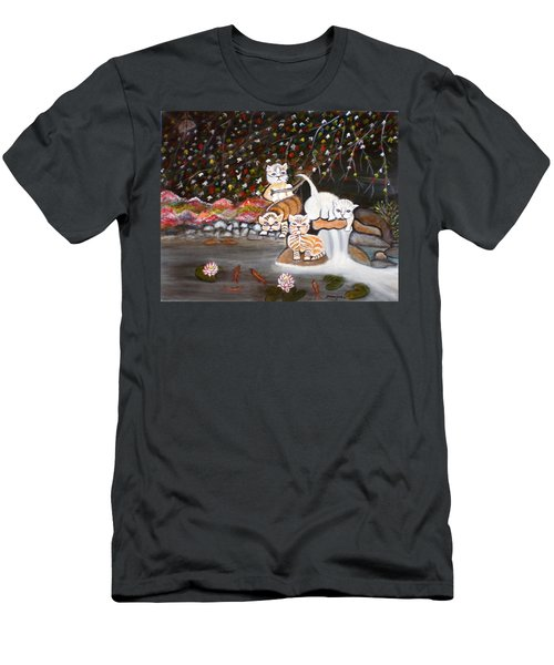 Cats In The Wild II Men's T-Shirt (Athletic Fit)