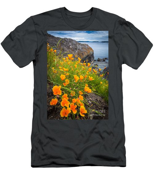 Cattle Point Poppies Men's T-Shirt (Athletic Fit)