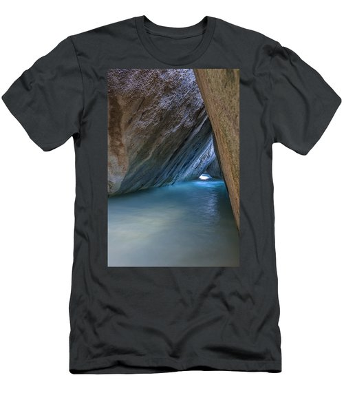 Cave At The Baths Men's T-Shirt (Slim Fit) by Adam Romanowicz