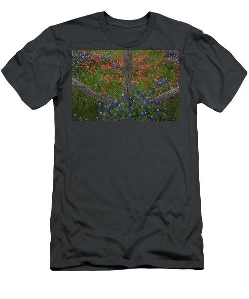 Cedar Fence In Llano Texas Men's T-Shirt (Athletic Fit)