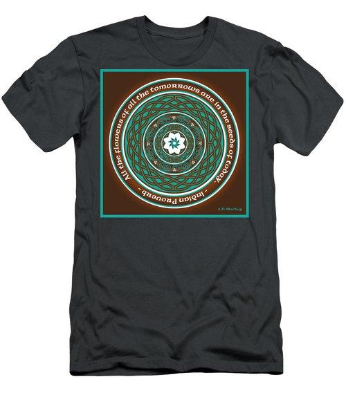 Celtic Lotus Mandala Men's T-Shirt (Athletic Fit)