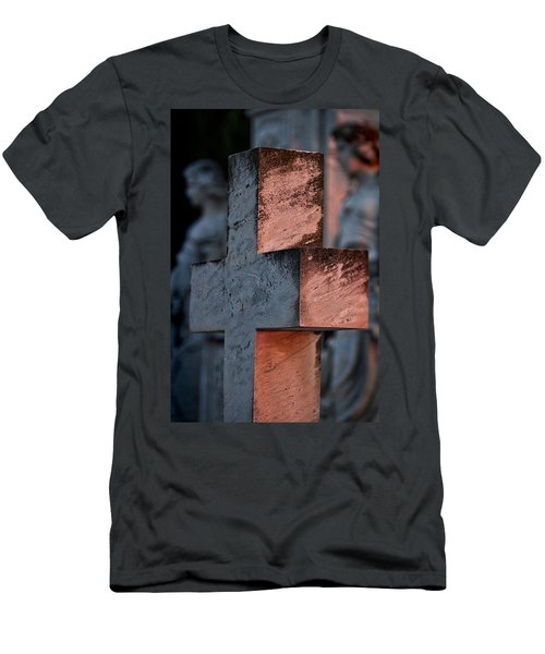Cemetery Cross - Hvar Croatia Men's T-Shirt (Athletic Fit)
