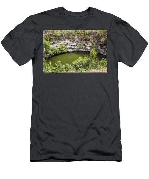 Cenote Sagrado At Chichen Itza Men's T-Shirt (Athletic Fit)