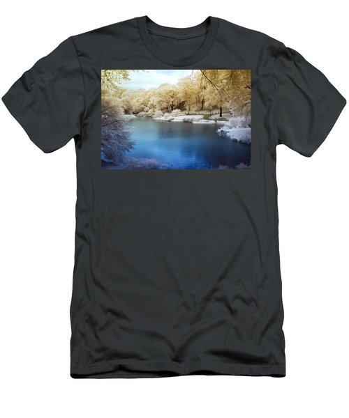Central Park Lake Infrared Men's T-Shirt (Athletic Fit)
